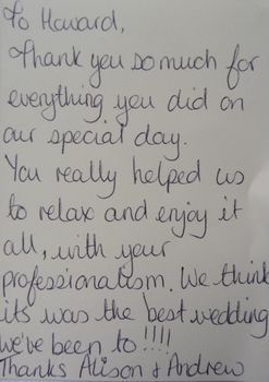 thank you letters sent to howard lancashire toastmaster master of